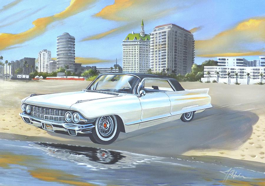 1962 Painting - 1962 Classic Cadillac by James R Hahn