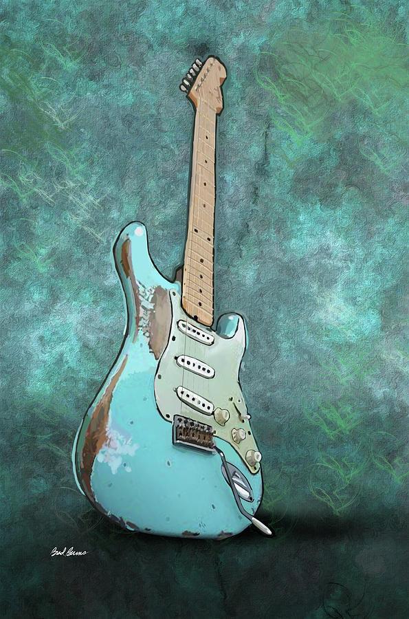 1962 Fender Stratocaster Painting