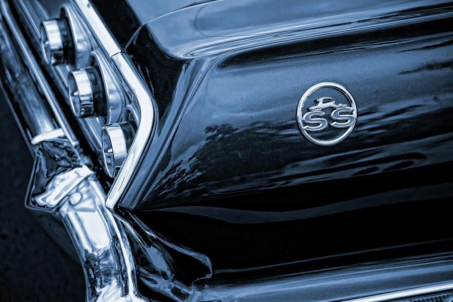 1963 Photograph - 1963 Chevy Impala Blue by Gordon Dean II