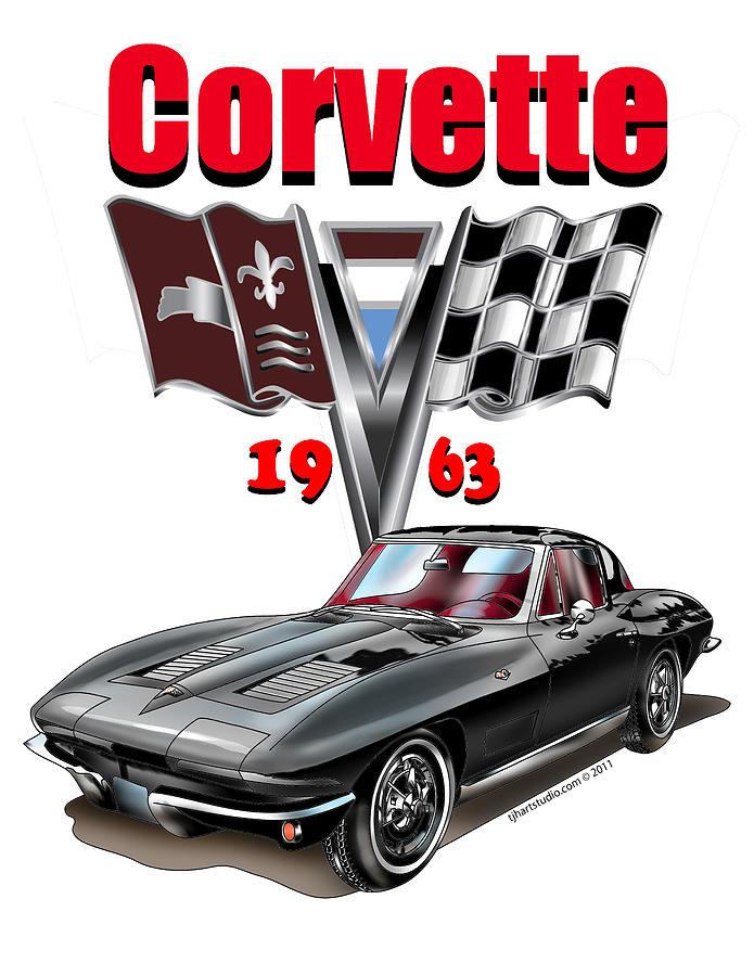 1963 Corvette with Split rear window by Thomas J Herring