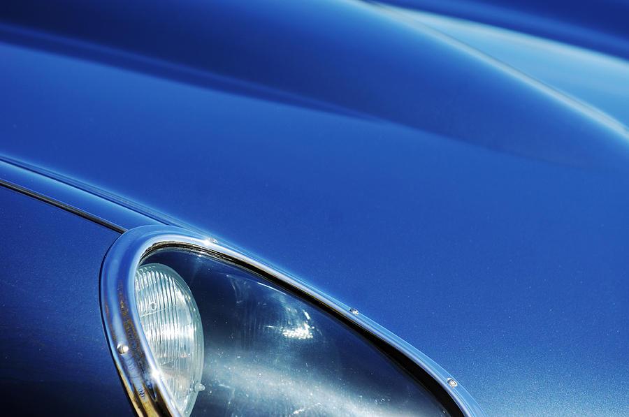 Transportation Photograph - 1963 Jaguar Xke Roadster Headlight by Jill Reger