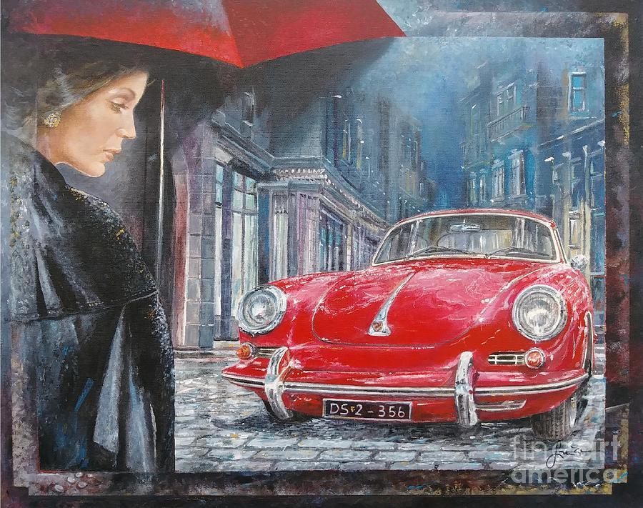 Porsche 356 Painting - 1964 Porsche 356 Coupe by Sinisa Saratlic