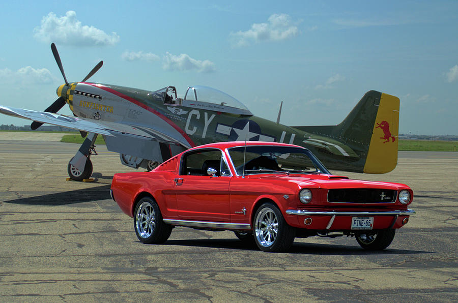 1965 Mustang Fastback and P51 Mustang by Tim McCullough