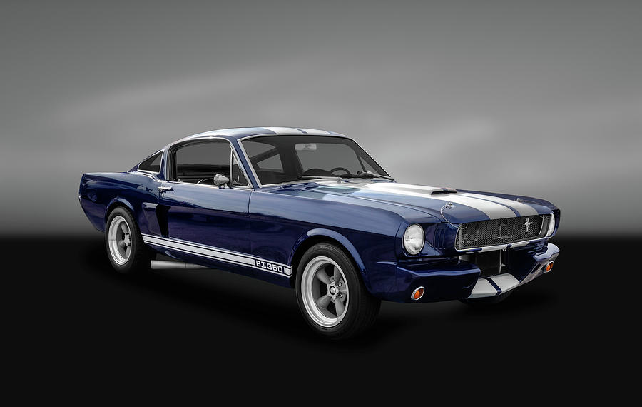 Hot Rods Photograph - 1965 Shelby Ford Mustang Gt 350 Fastback - 65fdmusgt973 by Frank J Benz
