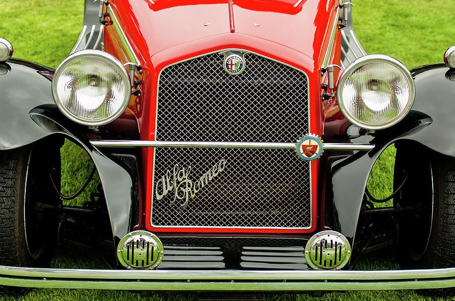 1966 Alfa Romeo Quattro Route 4r Photograph - 1966 Alfa Romeo Quattro Route 4r Grille by Jill Reger