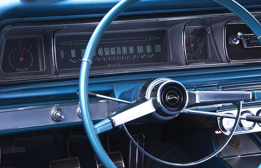 1966 Chevrolet Impala Photograph - 1966 Chevrolet Impala Dash by Glenn Gordon