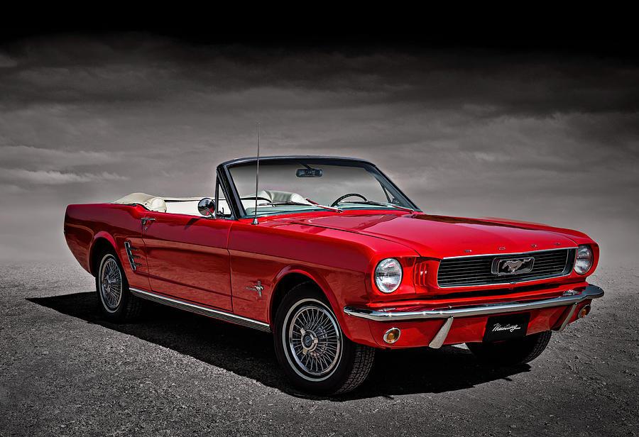 Mustang Digital Art - 1966 Ford Mustang Convertible by Douglas Pittman