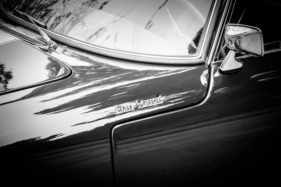 Bw Photograph - 1966 Lotus Elan S3 Fhc Coupe Side Emblem -1227bw by Jill Reger