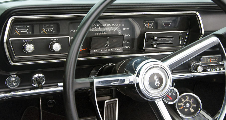 1966 Plymouth Satellite Dash Photograph By Glenn Gordon