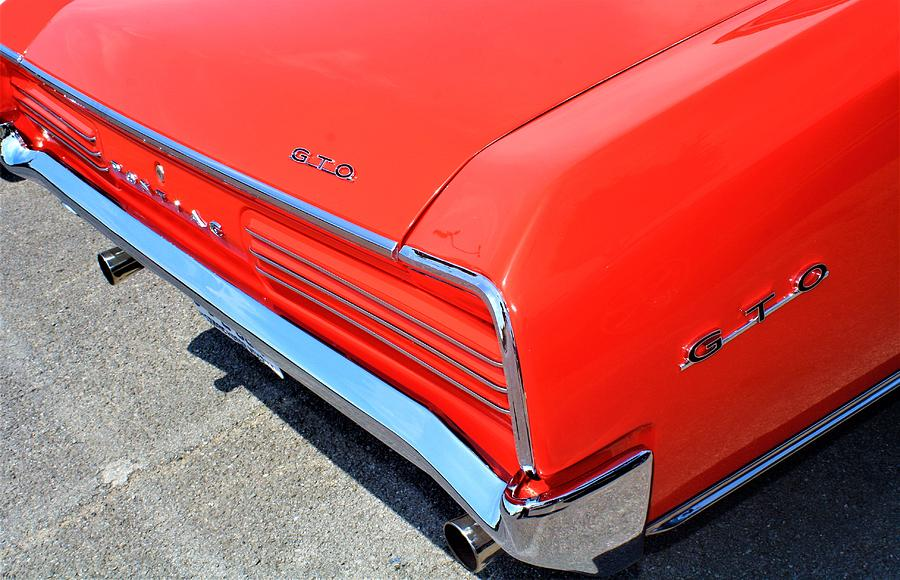 Auto Photograph - 1966 Pontiac Gto Tail Lights And Logos by WHBPhotography Wallace Breedlove