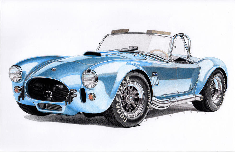 1966 Shelby Cobra 427 Drawing By James Robert