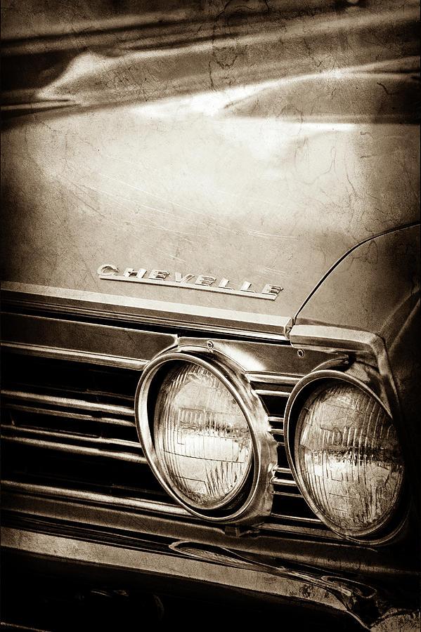 Transportation Photograph - 1967 Chevrolet Chevelle Ss Super Sport Emblem -0413s by Jill Reger