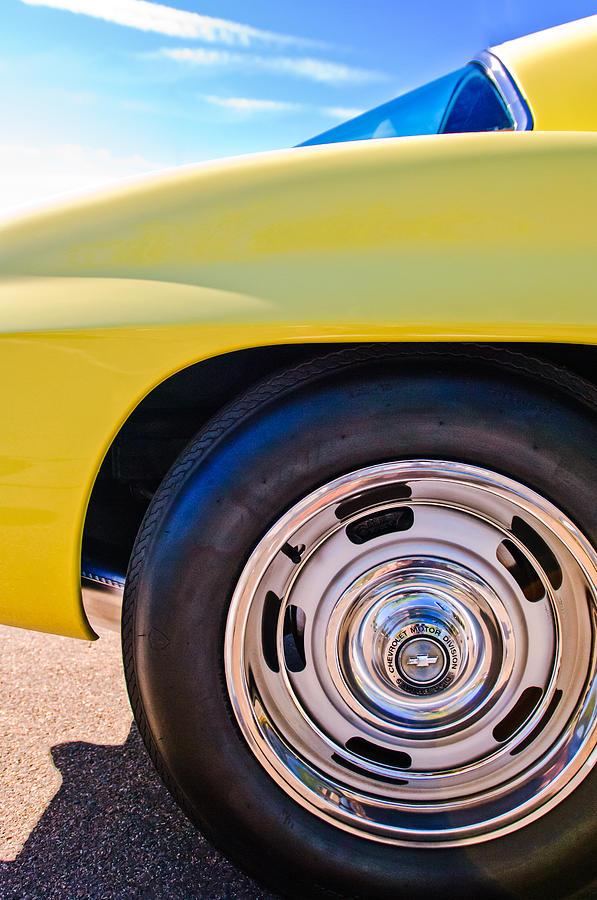 1967 Chevrolet Corvette Photograph - 1967 Chevrolet Corvette Sport Coupe Rear Wheel by Jill Reger