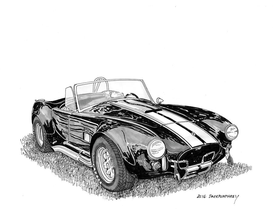 American Muscle Car Painting - 1967 Cobra Sc by Jack Pumphrey