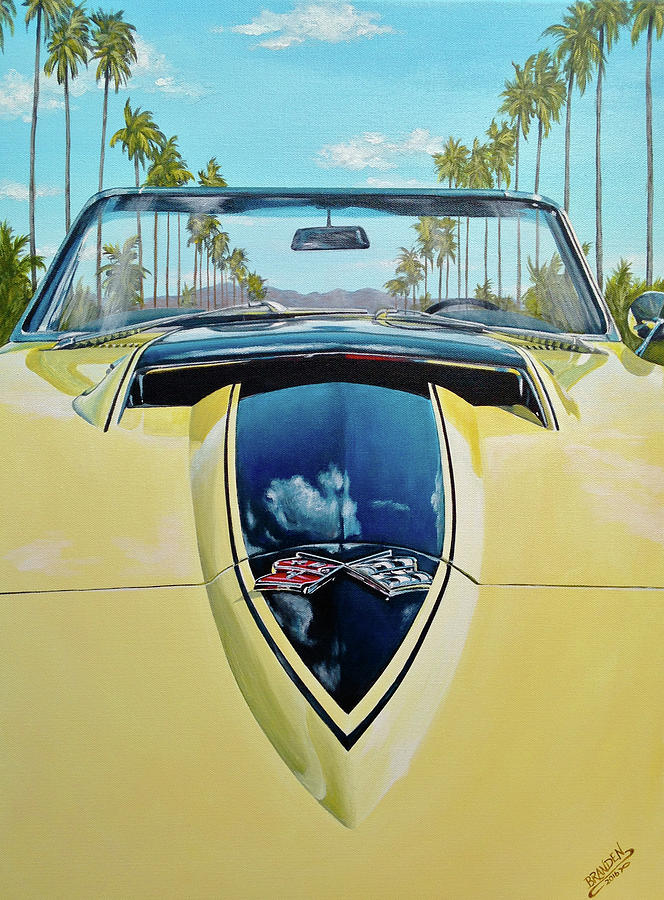 1967 Corvette 427 Convertible Painting by Branden Hochstetler