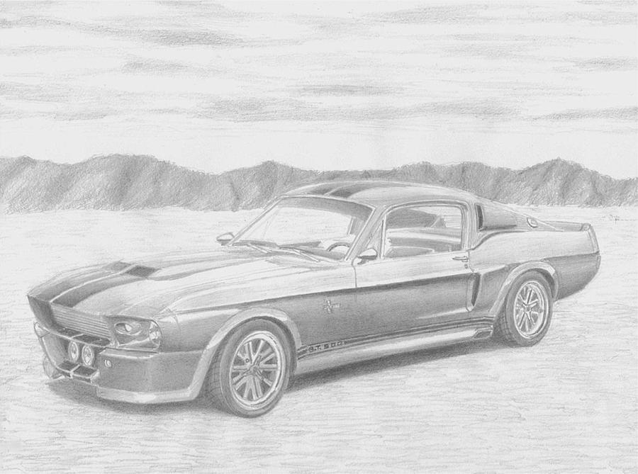Shelby Mustang Drawings | Fine Art America