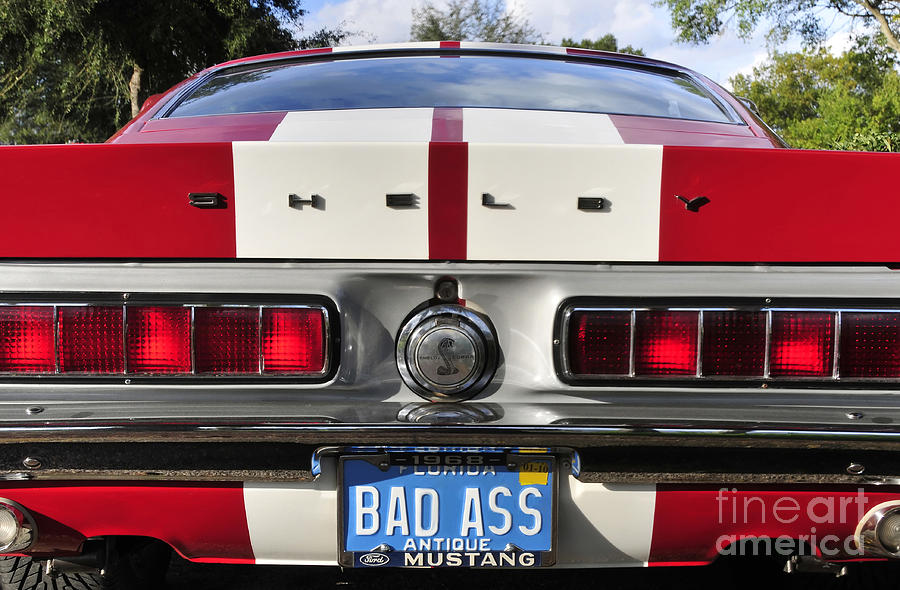 Shelby Mustang Photograph - 1968 Bad Ass Shelby Mustang by David Lee Thompson