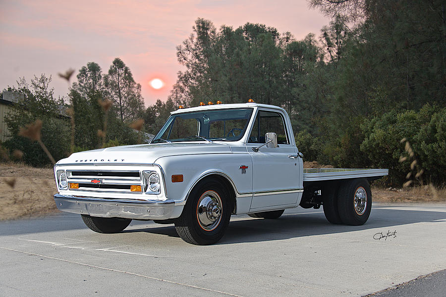 1968 Chevrolet C30 Short Dually Flatbed Photograph By
