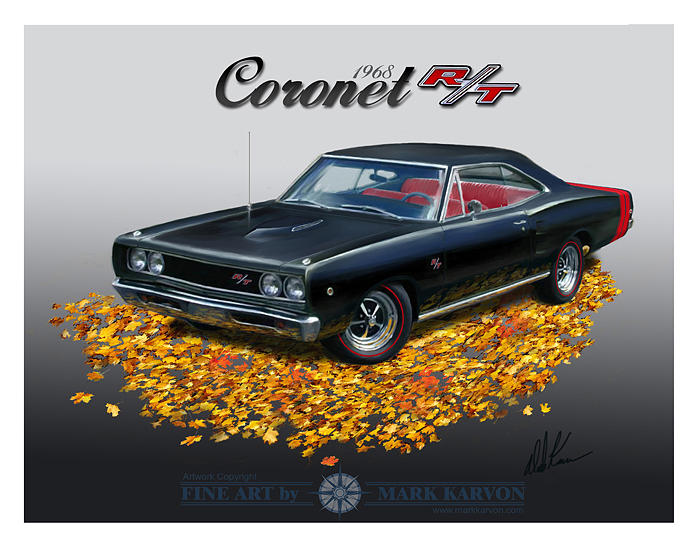 Cars Painting - 1968 Coronet Rt by Mark Karvon