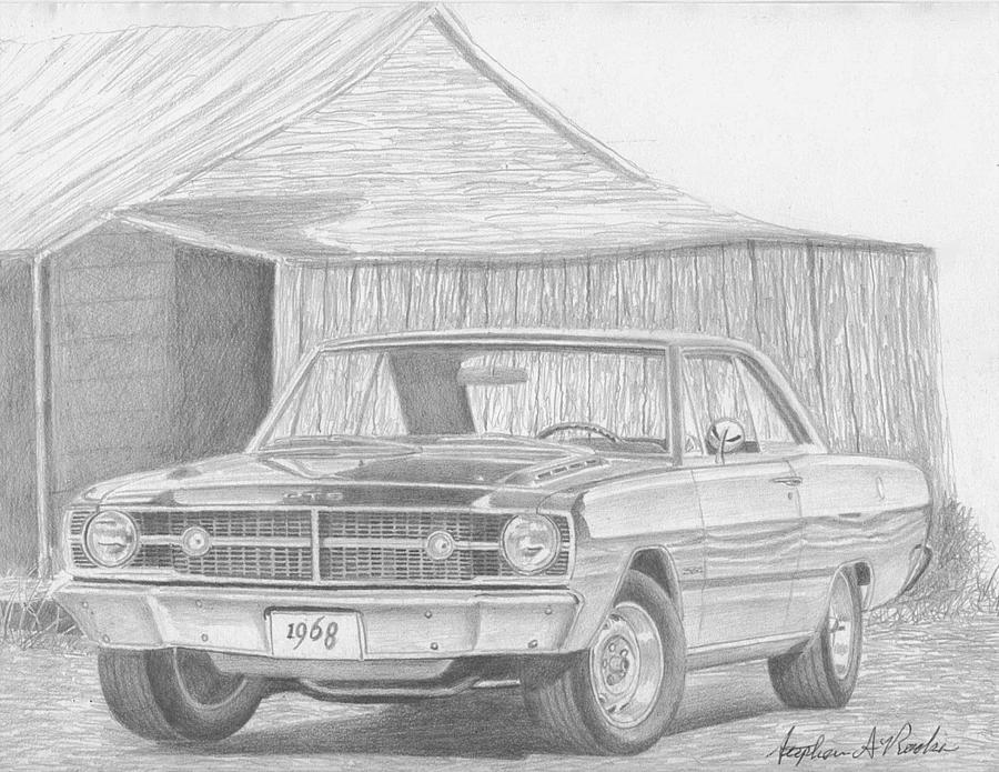 1968 dodge dart gts classic car art print drawing by stephen rooks automobile drawings drawing 1968 dodge dart gts classic car art print by stephen rooks altavistaventures Images