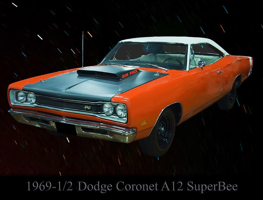 Cars Photograph - 1969 And A Half Dodge Cornet A12 Superbee by Chris Flees