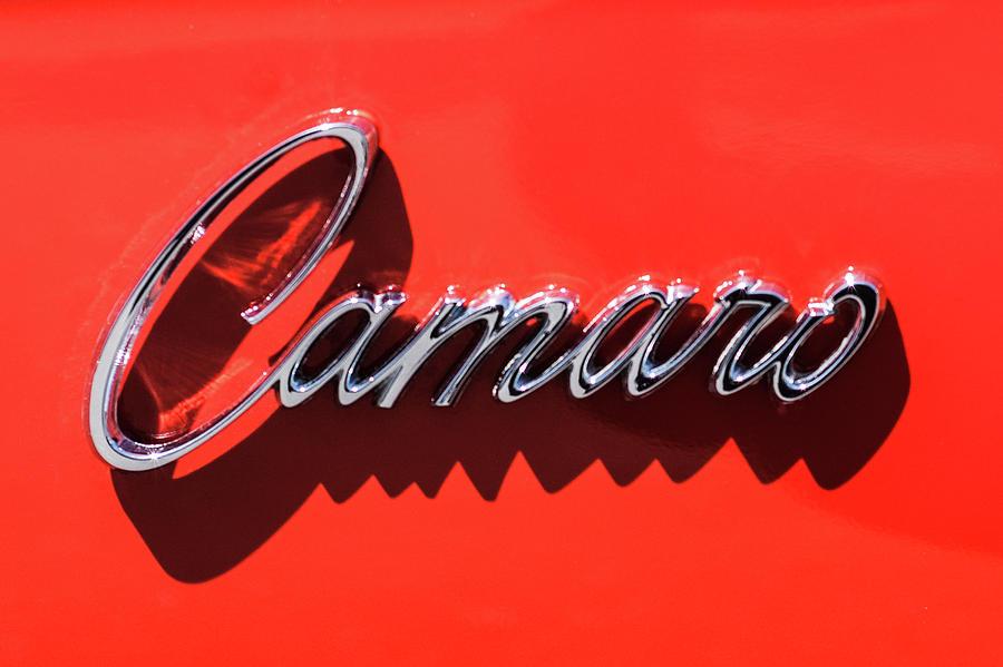 1969 Chevrolet Camaro Z-28 302 Emblem -0152c Photograph by Jill Reger