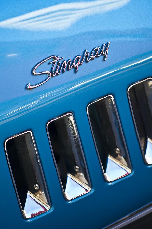 1969 Chevrolet Corvette Stingray Emblem Photograph By Jill