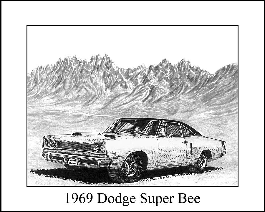 69 Dodge Super Bee Classic American Muscle car Hoodie Black