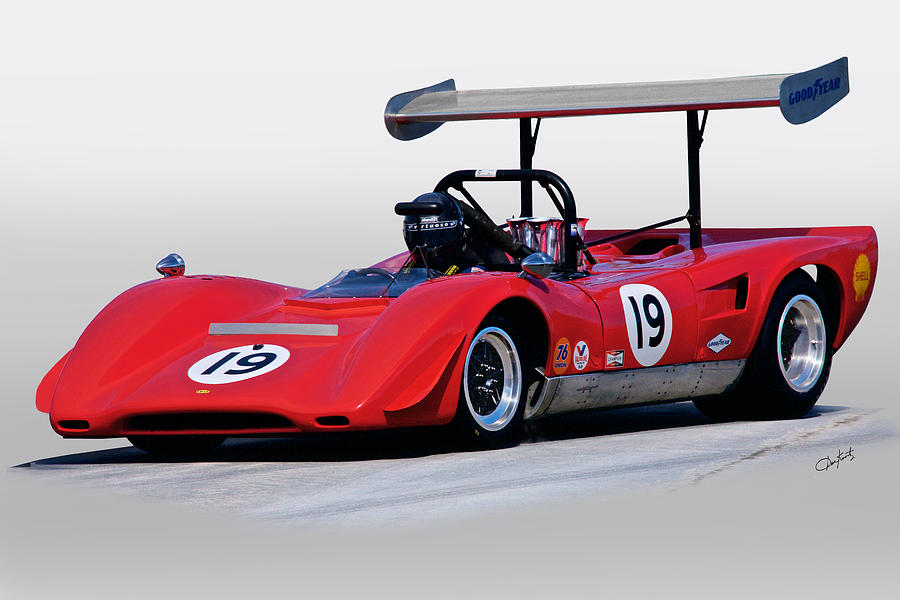 1969 Lola T163 Vintage Can Am Racecar Photograph by Dave Koontz