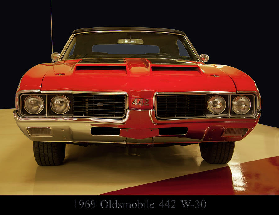 1969 Photograph - 1969 Oldsmobile 442 W-30 by Chris Flees