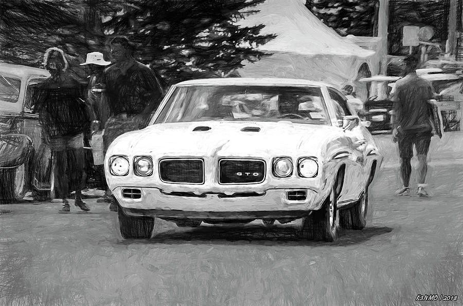 1970 Digital Art - 1970 Pontiac Gto by Ken Morris