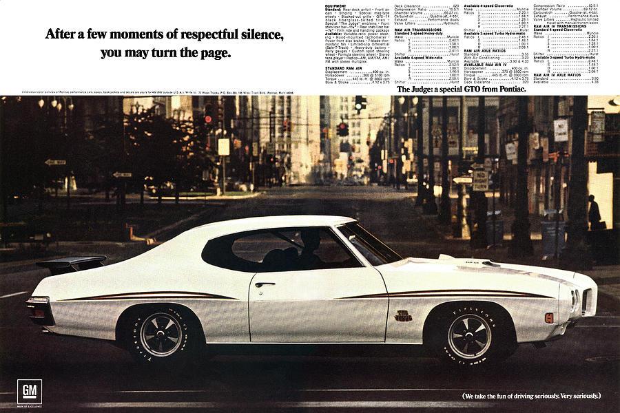 1968 Digital Art - 1970 Pontiac Gto The Judge  by Digital Repro Depot