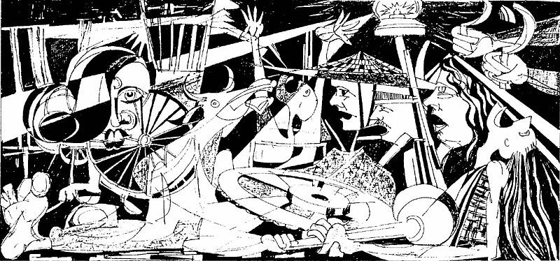 Abstract Drawing - 1971 by Mizanul Chowdhury