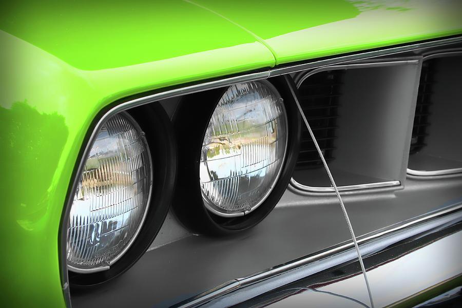 426 Photograph - 1971 Plymouth Barracuda Cuda Sublime Green by Gordon Dean II