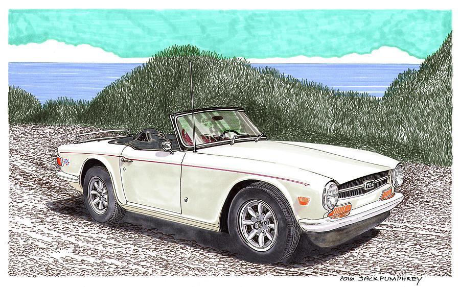 1971 Triumph T R 6 Painting By Jack Pumphrey