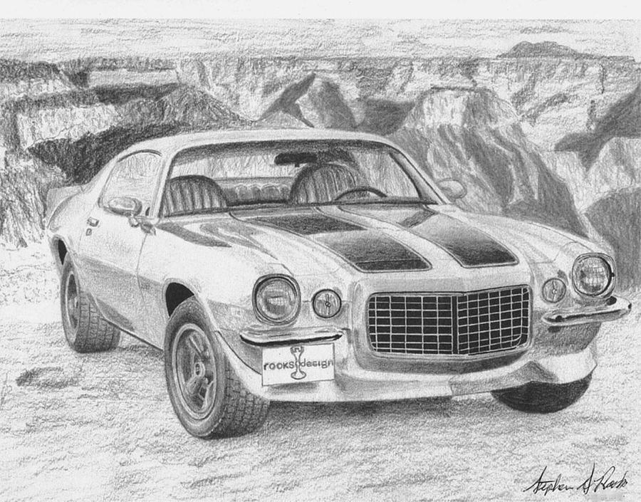 Chevrolet Camaro Rs Classic Car Art Print Mixed Media By