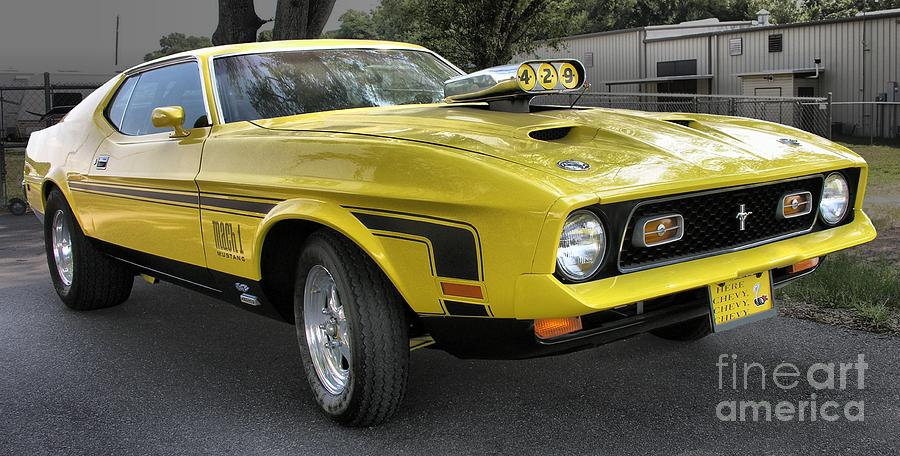 1972 Ford Mustang Mach 1 Photograph by Richard Rizzo