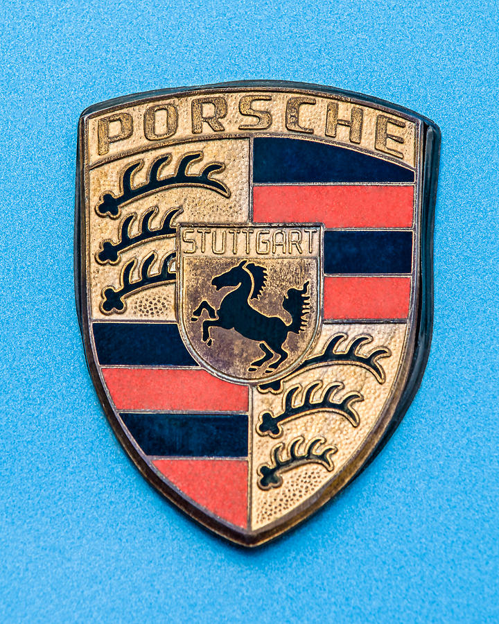 Car Photograph - 1972 Porsche 911s Emblem - 0584c45 by Jill Reger