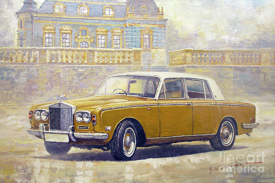 Automotive Painting - 1973 Rolls-royce Silver Shadow by Yuriy Shevchuk