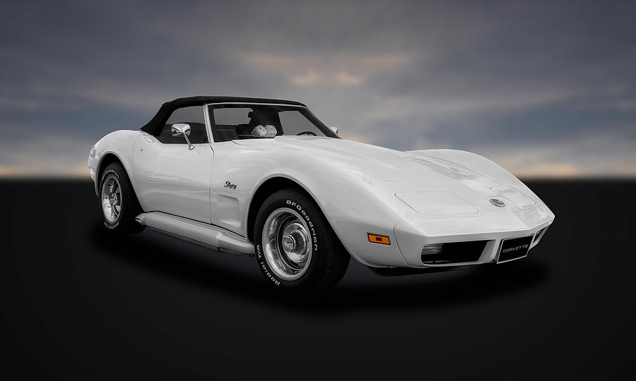 Hot Rod Photograph - 1974 C3 Chevrolet Corvette Stingray  -  74vt33 by Frank J Benz
