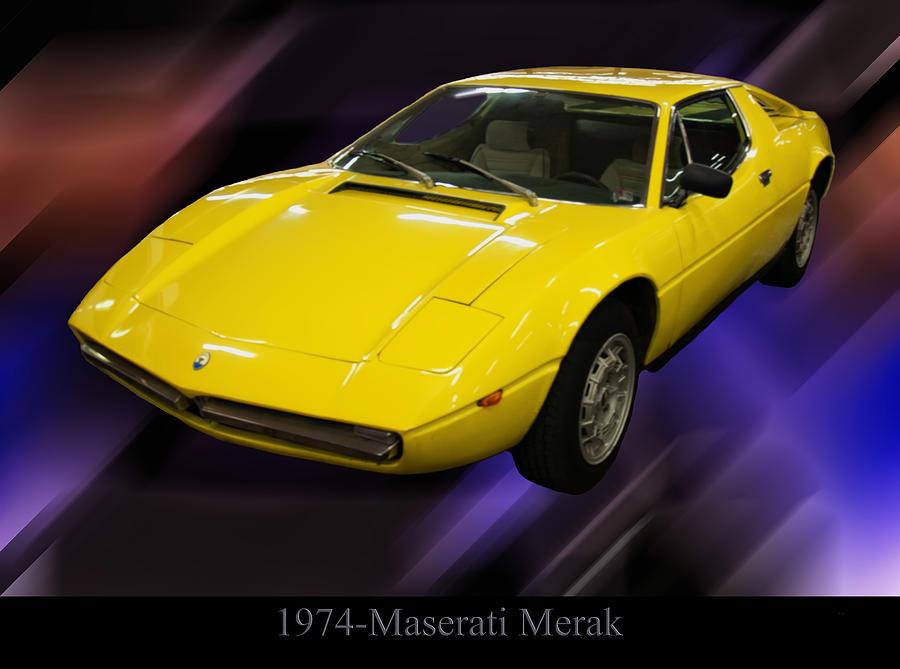 Cars Photograph - 1974 Maserati Merak by Chris Flees