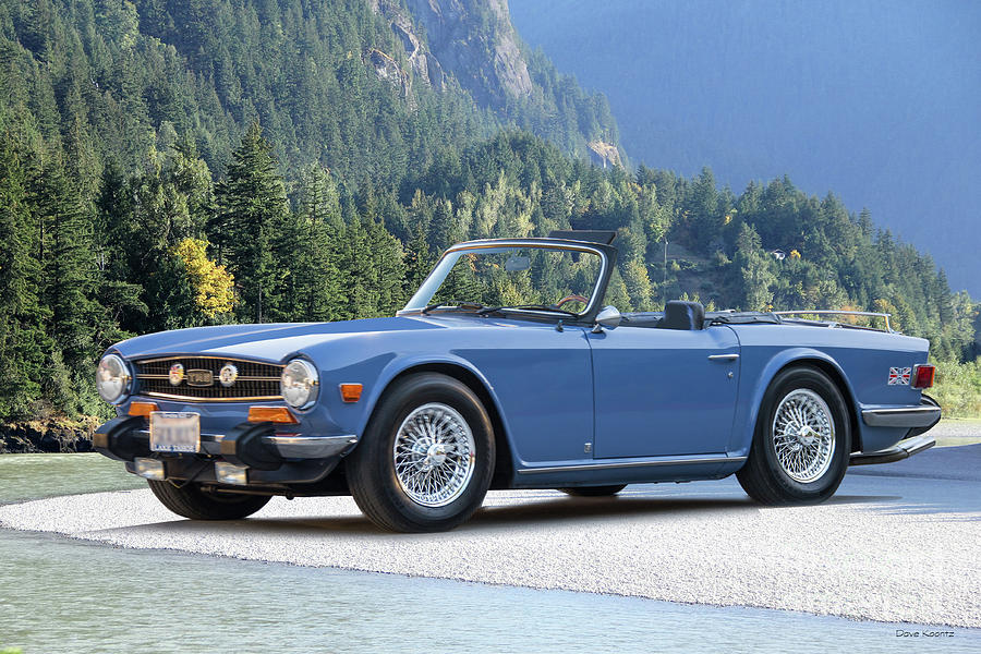 1974 Triumph Tr6 Roadster Photograph By Dave Koontz