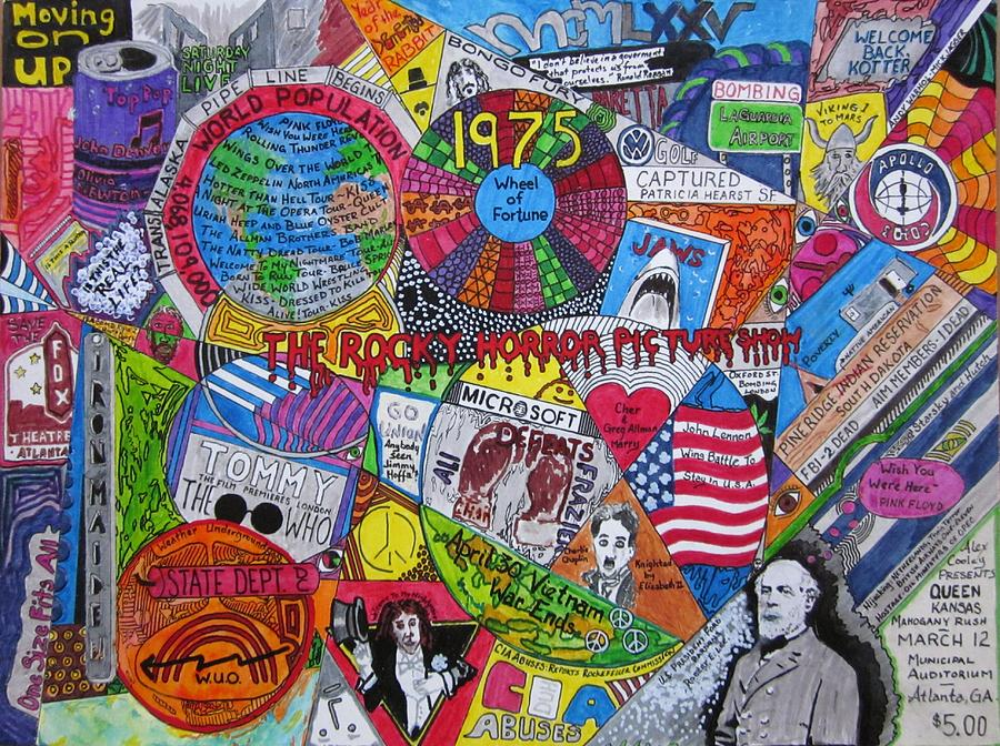 1975 Mixed Media - 1975 by David Sutter