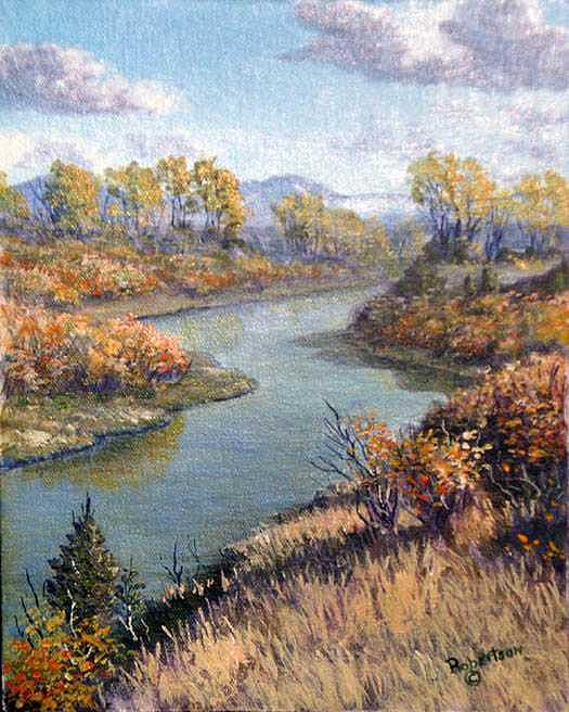Paridise valley fall colors Painting by Scott Robertson