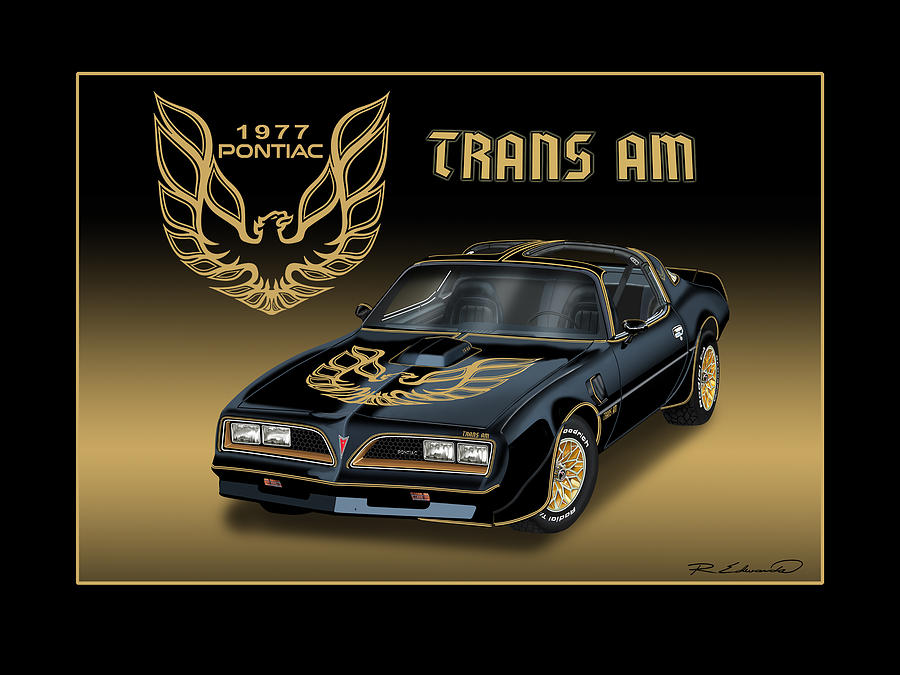 New Trans Am >> 1977 Pontiac Trans Am Bandit Painting by Rudy Edwards