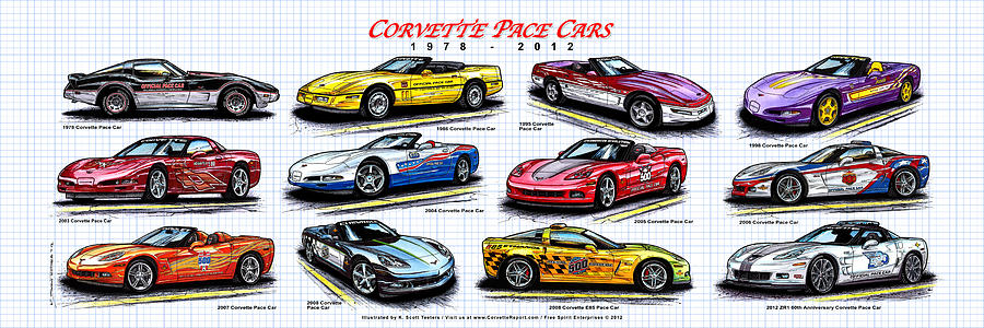 1978 - 2012 Indy 500 Pace Car Corvettes by K Scott Teeters