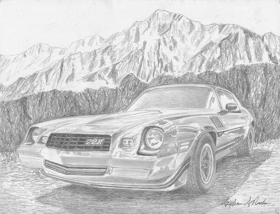 1979 Chevrolet Camaro Z28 Classic Car Art Print Mixed Media By