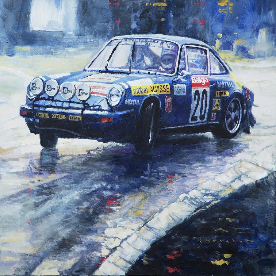 Oil Painting - 1980 Criterium Lucien Bianchi Porsche Carrera Keller Hoss #20 by Yuriy Shevchuk
