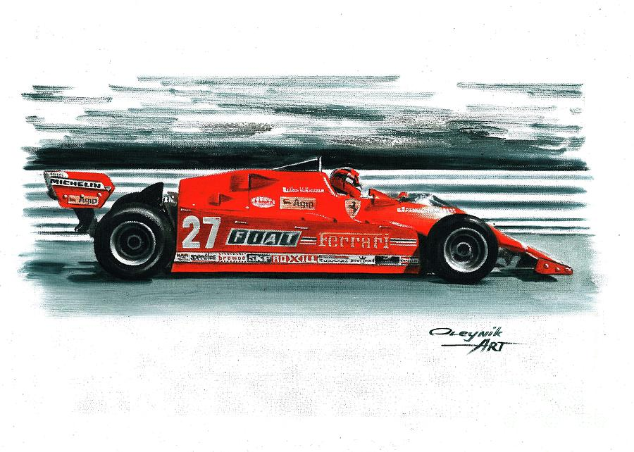 1981 Ferrari 126cx Painting By Artem Oleynik