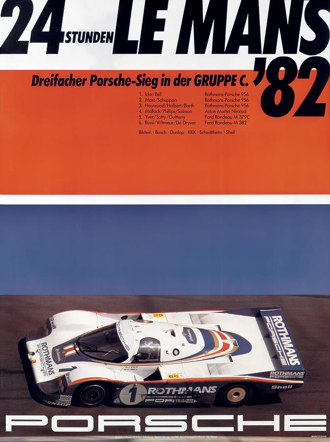 24 Hours Of Le Mans Photograph - 1982 24hr Le Mans by Georgia Fowler